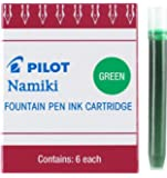 Pilot Namiki IC50 Fountain Pen Ink Cartridge, Green, 6 Cartridges per Pack (69003)