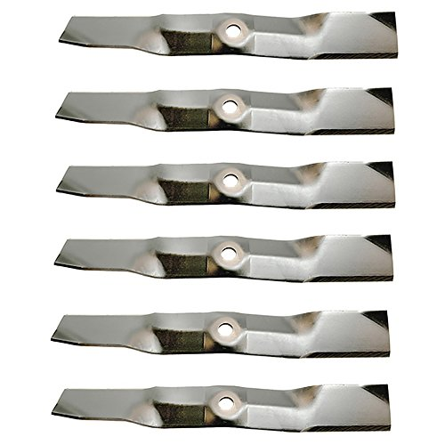 (6) Mower Blades for John Deere X300 X320 X324 X350 X354 X360 Replaces M145476
