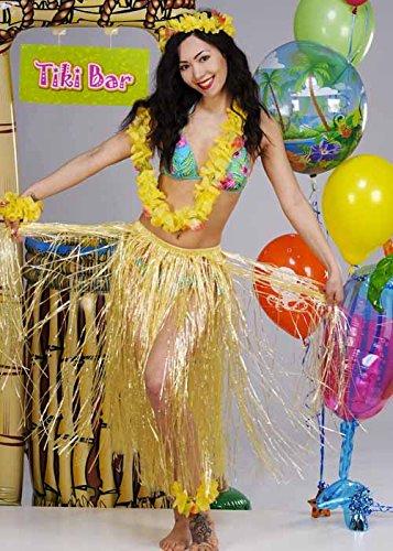 Falda hawaiana Hula paja: Amazon.es: Juguetes y juegos