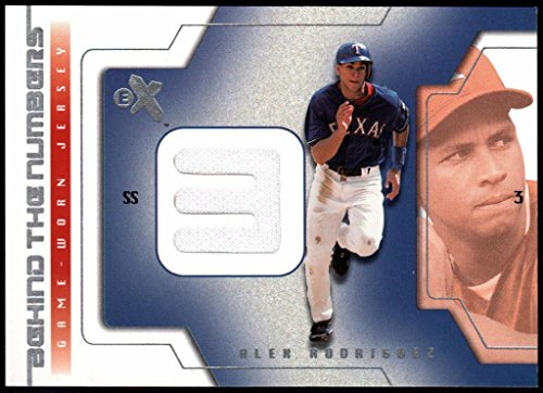 (2002 E-X Alex Rodriguez Behind The Numbers Jersey Card #20 -Texas)