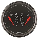 Auto Meter 1413 Designer Black Oil/Fuel Dual Gauge