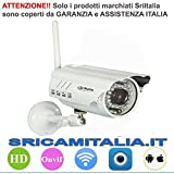 Sricam Italia SP014 Telecamera Ip, Camera Wireless Onvif per Esterno, P2P Free