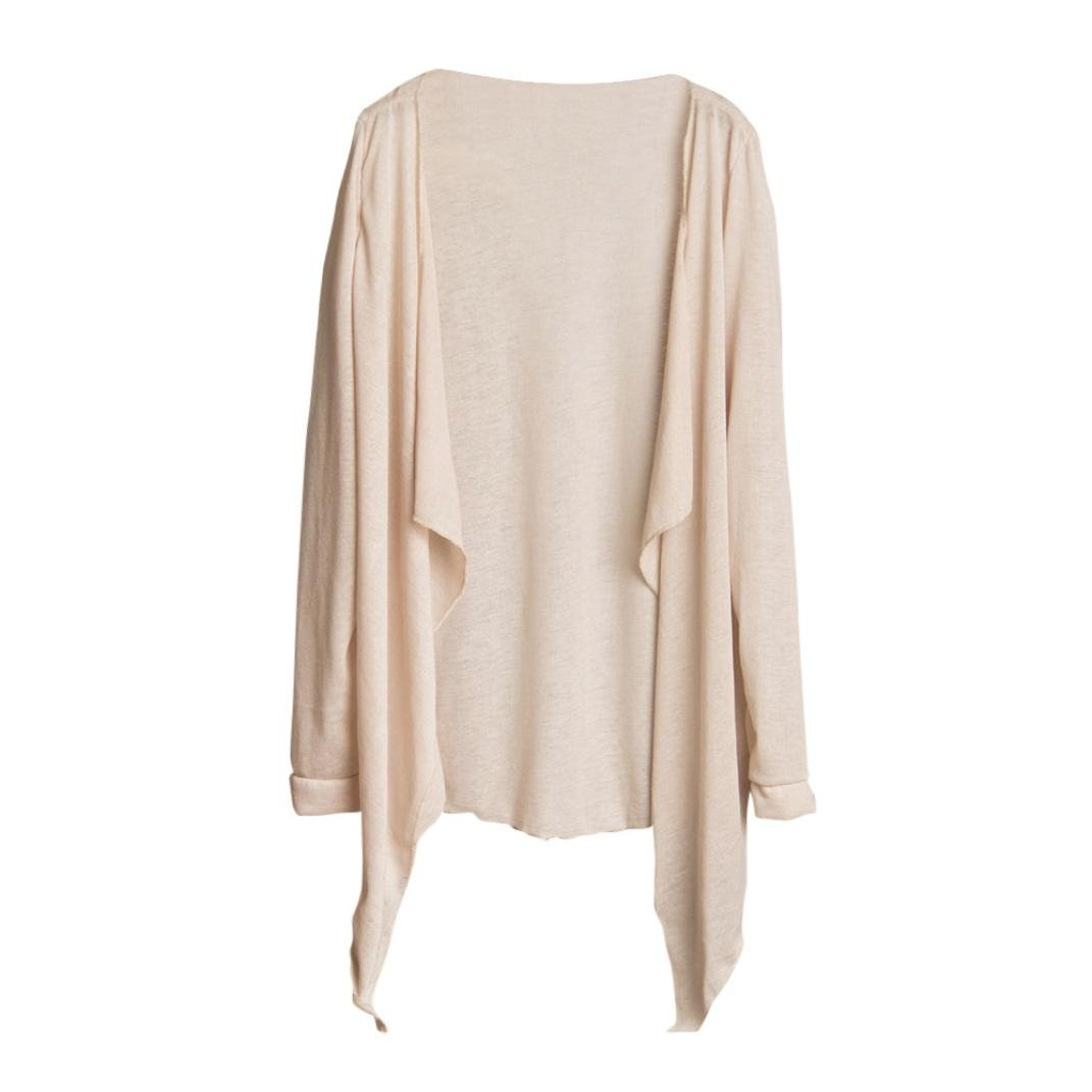 Amazon.com: Teresamoon Cardigan, Women Summer Cold Shoulder Top Sun Protection Clothing Tops (Beige, Free Size): Clothing