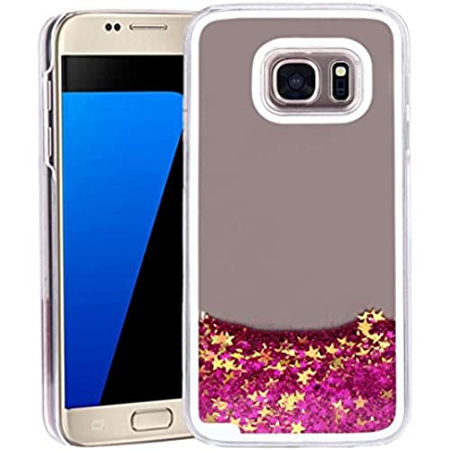 KOOZIMO Trend Glitter Star Liquid Back Phone Case Cover for Samsung galaxy S7 (Hot Pink) Sales