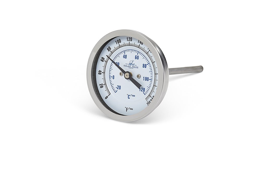 Polar Ware Stainless Steel Thermometer with 3-Inch Face and 4-Inch Probe