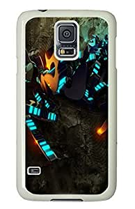 Samsung Galaxy S5 design covers Abstract Blue Lights PC White Custom Samsung Galaxy S5 Case Cover