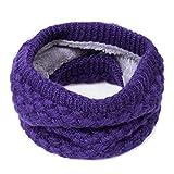 Children Winter Warm Scarf Thickened Wool Collar Scarves Neckerchief,Purple