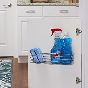 Household Essentials 1229-1 Two-Compartment Kitchen Under Sink Organizer - Great for Cutting Boards and Kitchen Wrap- Mounts to Walls and Cabinet Doors