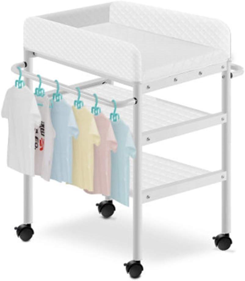 オムツ換えマット おむつテーブル新生児ケアテーブル赤ちゃん用マッサージテーブル赤ちゃん用折りたたみ式バススタンド (Color : 白, Size : 85*50*93cm)