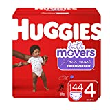 : Huggies Little Movers Diapers, Size 4 (22-37 lb.), 144 Ct, Economy Plus Pack (Packaging May Vary)