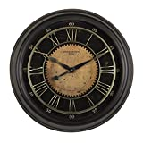 Studio Designs Home 73003 Industrial Loft Metal Decor Wall Clock, Steel, 30'