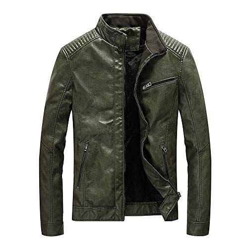 Solid Baseball Badger Jerseys (Men's Leather Jacket Performance Trucker Jacket Autumn Winter Business Outerwear Top Blouse Bomber Jacket YOcheerful)