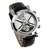 ESS Classical Tourbillon Black Dial Silver Mechanical Automatic Watch WM352