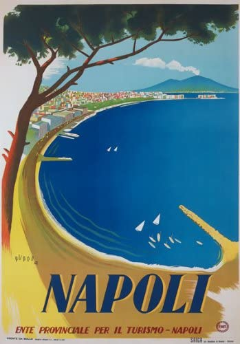 T6 Vintage 1920/'s Italy Naples Napoli Italian Travel Poster A1 A2 A3