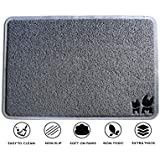 "BRASK PET Cat Litter Mat – Industry Leading Thickness (12mm) - Non-Slip Floor Pad - Easy-to-Clean Litter Trap and Scatter Control - (35"" x 23"")"