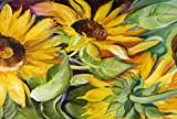Caroline's Treasures JMK1122PLMT Sunflowers Fabric Placemat, Multicolor