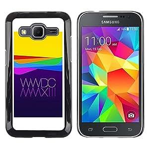 """Pulsar Snap-on Series Teléfono Carcasa Funda Case Caso para Samsung Galaxy Core Prime / SM-G360 , Manzana amarillo púrpura Waves Tecnología"""""""