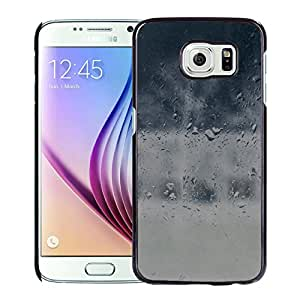 Good To Stay Home Blue Rainy Window Durable High Quality Samsung Galaxy S6 Case