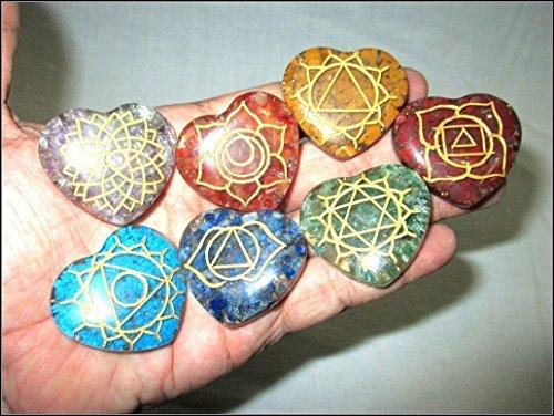Shaped Chakra Engraved Crystal Gemstones