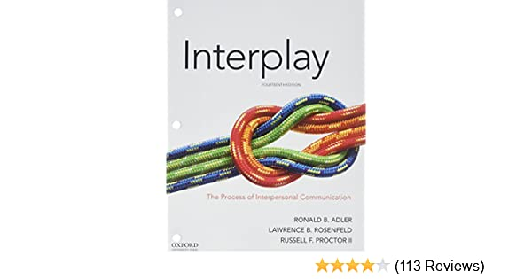 Interplay the process of interpersonal communication 9780190646356 interplay the process of interpersonal communication 9780190646356 communication books amazon fandeluxe Image collections