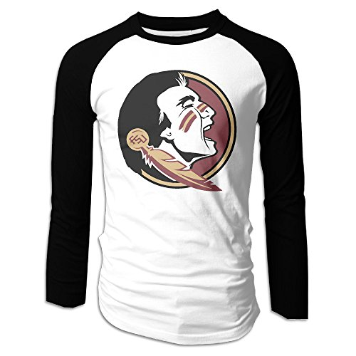 Ahey Men's Sportstyle Long Sleeve Raglan Florida State University Seminole T Shirt - 515FbS22iJL - Ahey Men's Sportstyle Long Sleeve Raglan Florida State University Seminole T Shirt