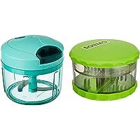 Bundle- Amazon Brand - Solimo Vegetable Chopper (Large, 725ml) and Amazon Brand - Solimo Vegetable Crusher (Small)