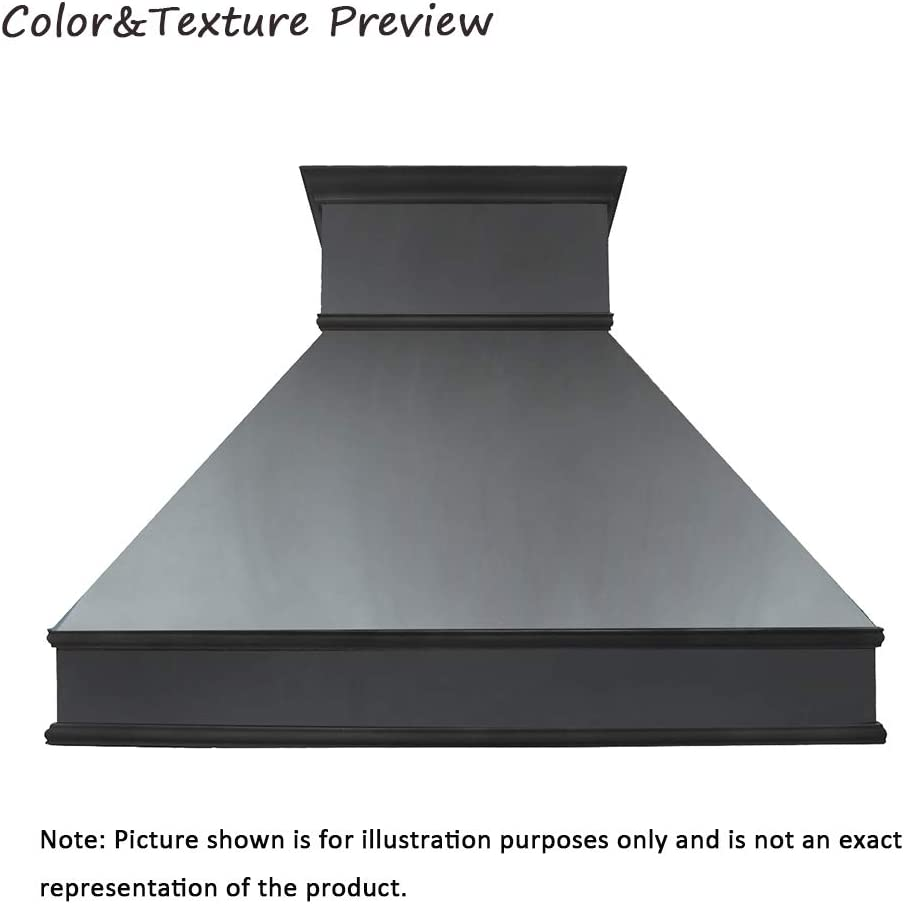 """SINDA 48""""Wx27""""H Copper Oven Hood Cover with High CFM Commercial Grade Range Hood Insert, Inlcudes Fan Motor, Blower Box, Baffle Filter and Lighting, Wall Mount, Smooth-Oil Rubbed Bronze, H10B-SOW4827"""