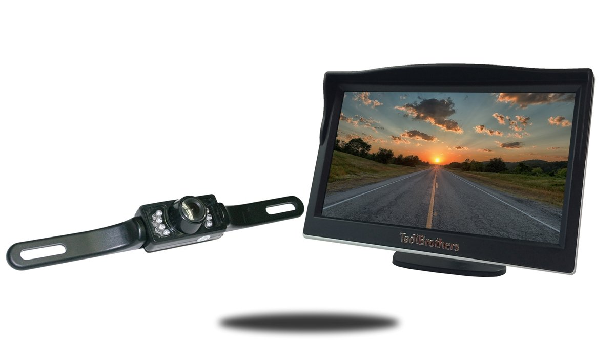 Tadibrothers 5 Inch Monitor with License Plate Backup Camera