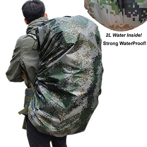 PolarLander 60-80L Rain Cover for Backpack Luggage Waterproof Cover for Hiking Camping Traveling (Camouflage) Camouflage Cover