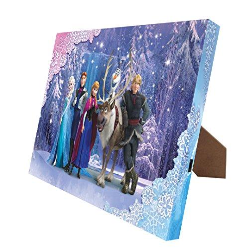 [Disney's 'Frozen' Snow Queen Illuminart Canvas Art, 8 by 10-Inch] (Snow Family Canvas Art)
