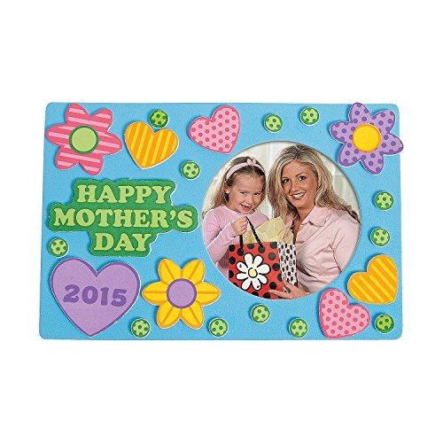 Foam Mother#039s Day Picture Frame Magnet Craft Kit 1 Dozen