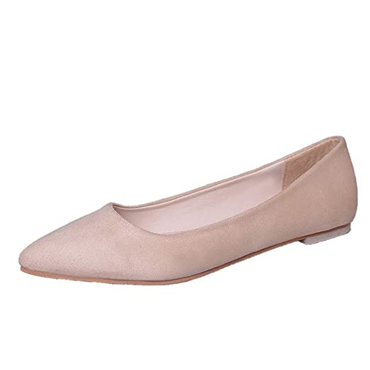 a5d1a48b34a2e Amazon.com: Women Flat Shoes Comfortable Slip On Pointed Toe Casual ...