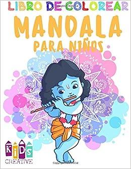 Libro Para Colorear Mandala Para Niños 4 6 Años De Edad Fácil