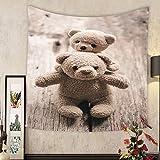 Madeleine Ellis Custom tapestry love couple teddy bear hold valentines day