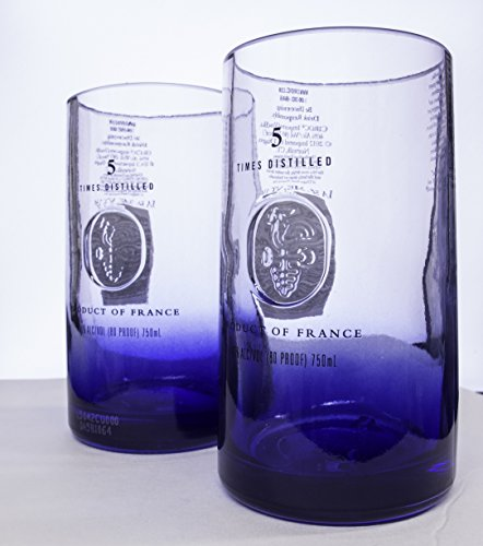 [Ciroc Premium Vodka Bottle (750mil) Upcycled Highball Glass set] (Premium Vodka)