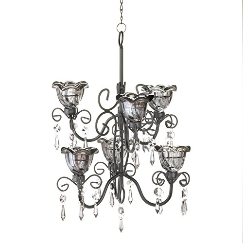 Koehler 10016073 12.875 Inch Midnight Blooms Tiered Chandelier (Shaded Candle)