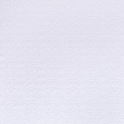 Brewster RD124 Anaglypta Wallpaper, 21-Inch x 396-Inch, Whites