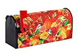 Evergreen Pumpkins with Birds Nylon Magnetic Mailbox Cover for Standard Sized Mailboxes