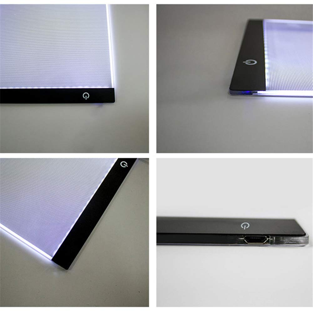 Hung Kai A4 LED Copy Station Drawing Copy Tracing Light Box USB Rechargeable Art Stencil Boards Tattoo Tracing Plat