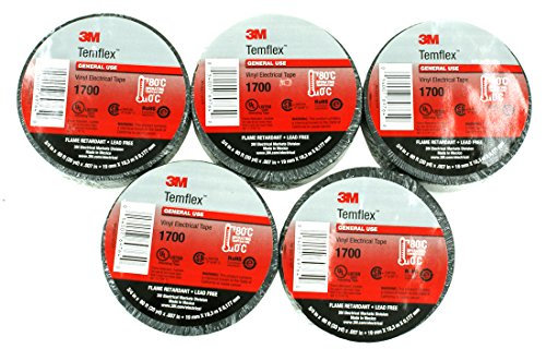 (DNF 5 Pack 3M Brand Temflex Vinyl Electrical Tape)