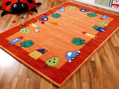 Lifestyle Kinderteppich Spielwelt Orange in 4 Größen !!! Sofort Lieferbar !!!