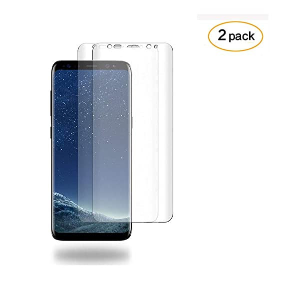 [2 Pack] DeFitch Galaxy S9 Screen Protector, [Case Friendly], Full Coverage  [Anti-Bubble] [TPU Not Glass] Screen Protector Compatible with Samsung