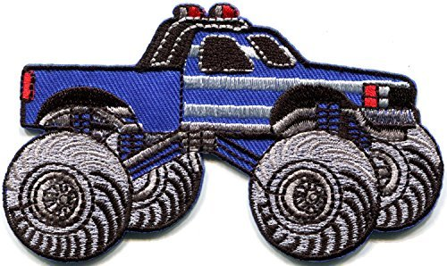Monster truck 4 X 4 pickup auto racing ute embroidered applique iron-on patch new