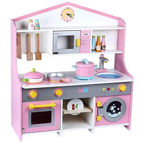 Yark Wooden Kitchen Cook Set Toy With Washing Machine Size