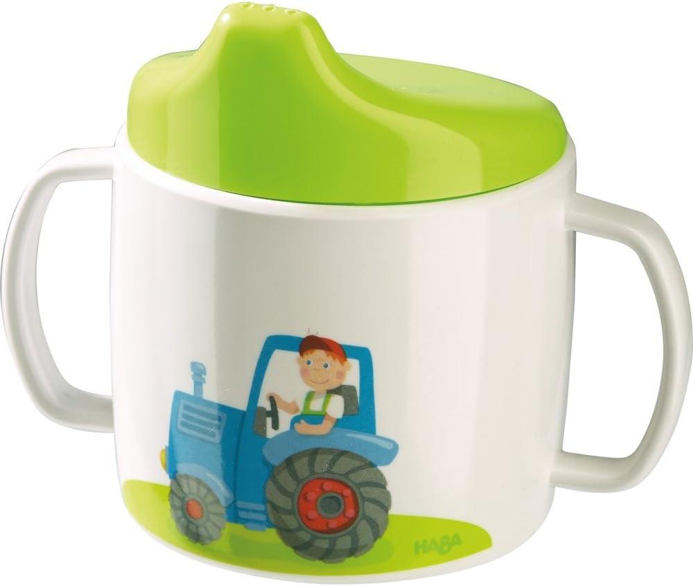 Haba Coffret cadeau 4/pi/èces Tracteur avec tasse cadeau de naissance cadeau de bapt/ême ou mitbringsel