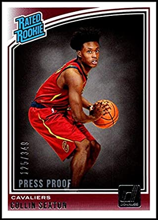 2018-19 Donruss Press Proof Silver  180 Collin Sexton Rated Rookie NM-MT c0c6bf3d7