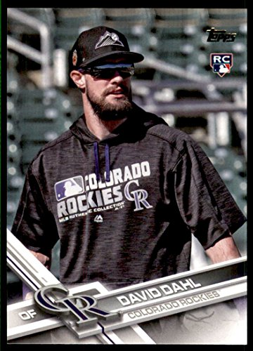 2017 Topps #306B David Dahl UPD SP sunglasses on - - Upd Sunglasses