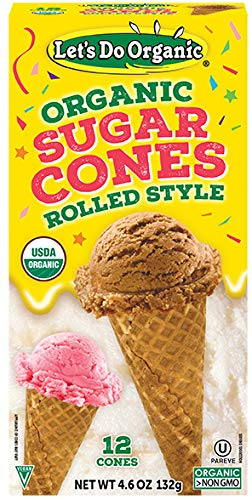 (Let's Do...Organic Sugar Cones, 12 Count Boxes (Pack of 12))