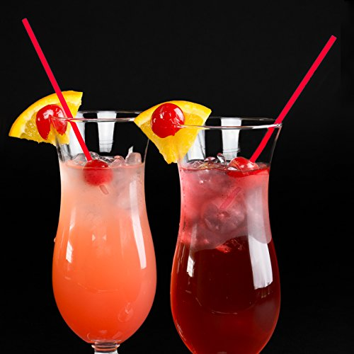 Red Stirrer Straws, 100 Cocktail Sipping Straws, 5.5