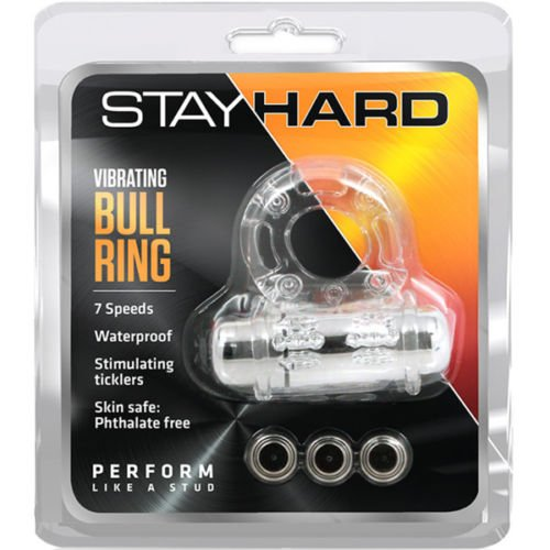 Vibrating Bull Ring C Ring - Clear